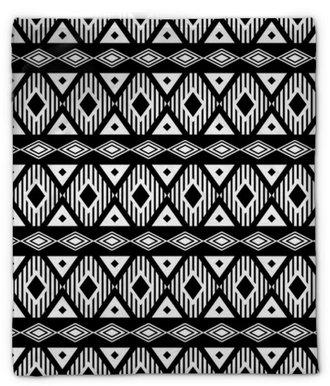 Plyšová deka Trendy bezešvé černé a bílé vzor. Moderní boho styl, etnických, geometrické. Módní vzor pro oblečení, balení, pozadí. Vektor.