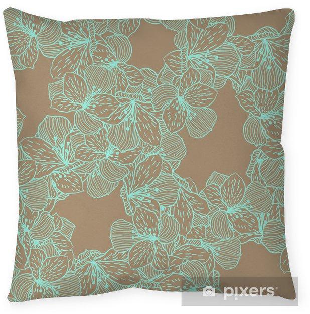 Poduszka dekoracyjna Abstract elegance szwu kwiat orchidei. - Kwiaty
