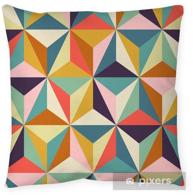 Poduszka dekoracyjna Bez szwu geometryczny wzór retro - Zasoby graficzne