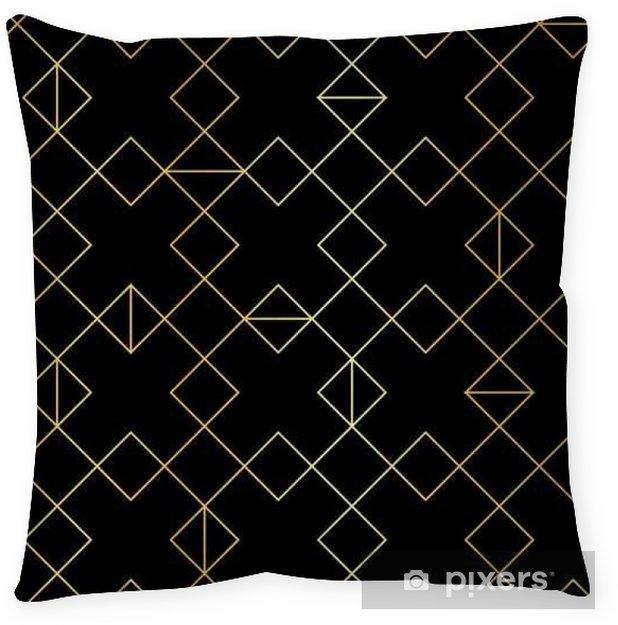 Poduszka dekoracyjna Bezproblemowa geometryczny wzór złoto z romb liniowych - Zasoby graficzne