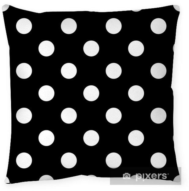 Poduszka dekoracyjna Bezszwowe kropki czarno-białe - Zasoby graficzne