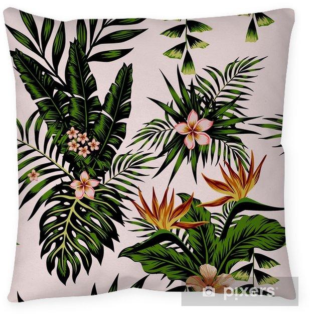 Poduszka dekoracyjna Egzotyczne kompozycje kwiatów i roślin - Rośliny i kwiaty