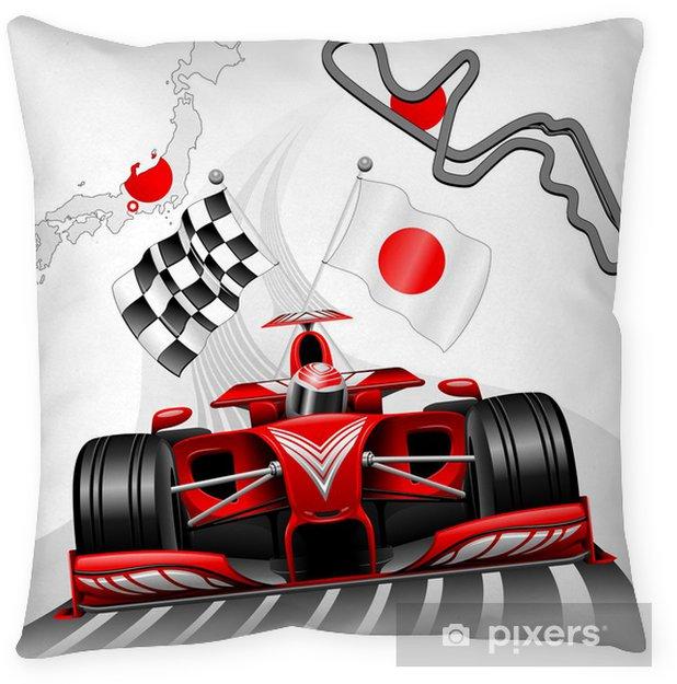 Poduszka dekoracyjna Formula 1 Race Car GP Suzuka Japan - Tematy