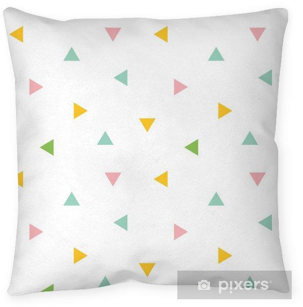 Poduszka dekoracyjna Ładny kolorowy geometryczne, trójkąt tło wzór. - Zasoby graficzne