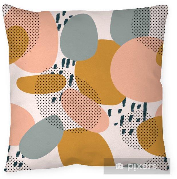 Poduszka dekoracyjna Modny wzór geometryczne kształty i gryzmoły. kolorowy wzór memphis - Zasoby graficzne