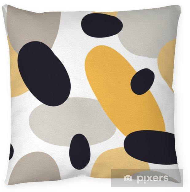 Poduszka dekoracyjna Nowoczesny wzór z abstrakcyjne kształty kolorowe: koła, owale. doodle ręcznie rysowane tekstury. modny kreatywny onfetti tło do druku na nowoczesne i oryginalne tkaniny, papier pakowy - Zasoby graficzne