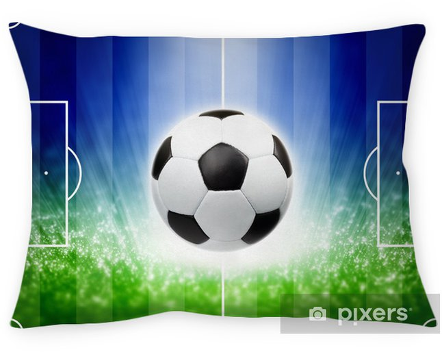 Poduszka dekoracyjna Piłka nożna w tle - Sporty drużynowe