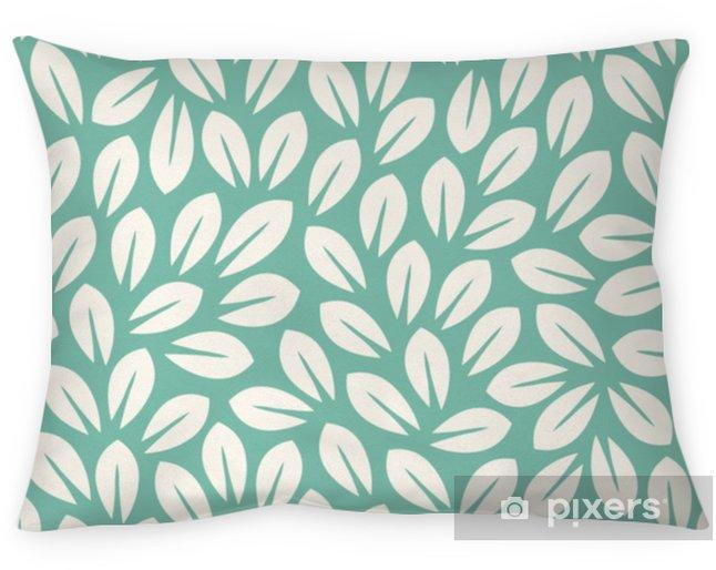 Poduszka dekoracyjna Pozostawia wzór. niekończące się tło. bezszwowy - Rośliny i kwiaty