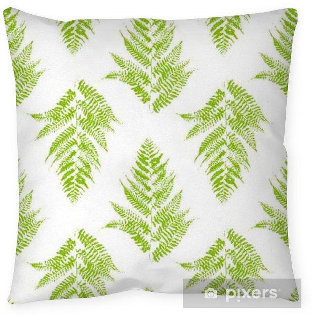 Poduszka dekoracyjna Szwu z liści paproci - Rośliny i kwiaty