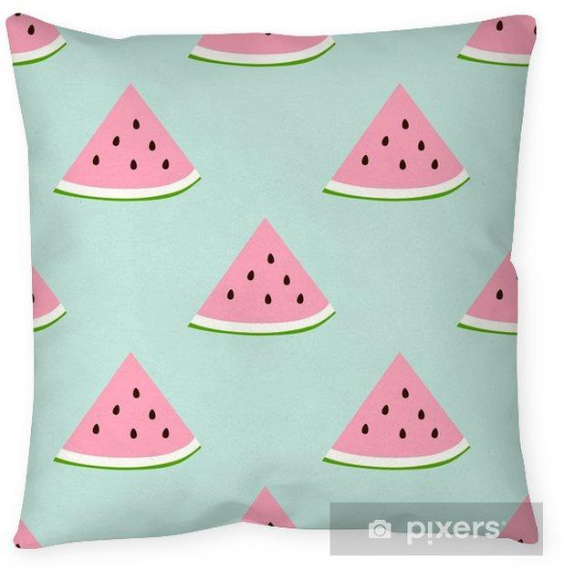 Poduszka dekoracyjna Watermelon szwu z kolory retro - Jedzenie