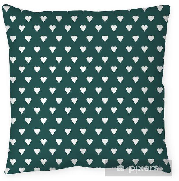 Poduszka dekoracyjna Wektor bez szwu deseń z białego serca na tle pastelowych - Zasoby graficzne