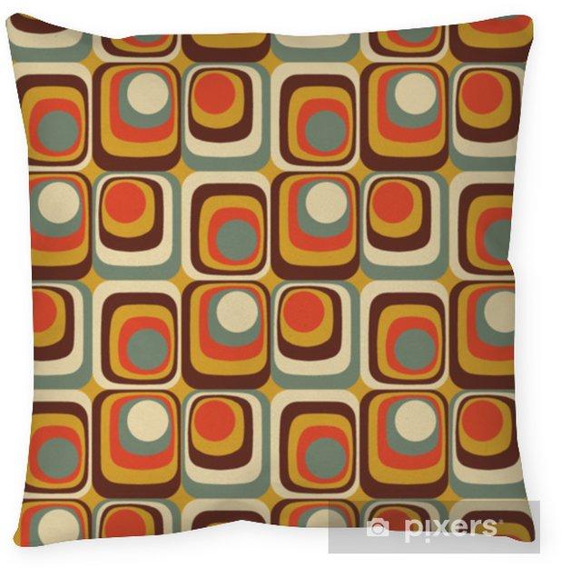 Poduszka dekoracyjna Wektor kolorowy streszczenie retro wzór geometryczny - Zasoby graficzne