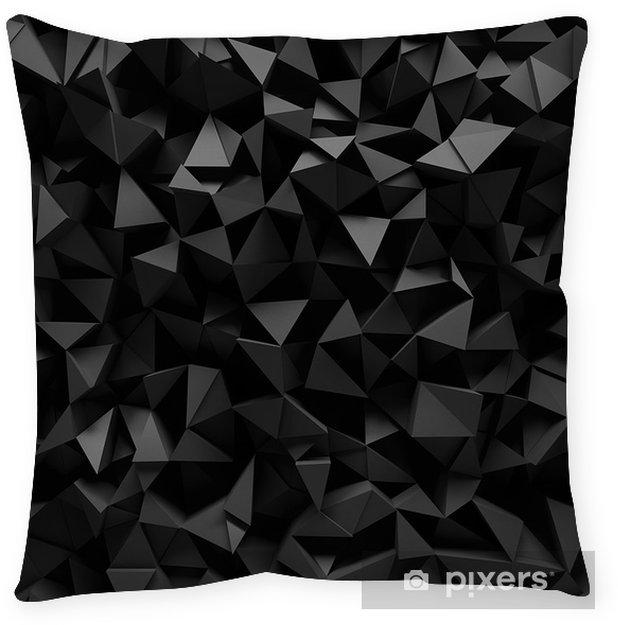 Poduszka dekoracyjna Wysiedlonych 3d trójkątne tle - Style