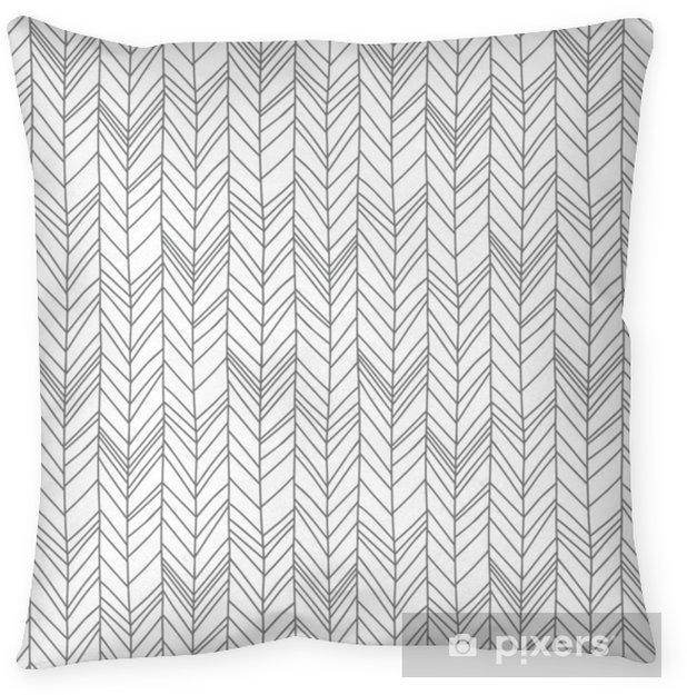 Poduszka dekoracyjna Wzór stylu skandynawskim stylu jodełkę - Zasoby graficzne