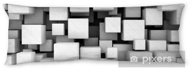 Poduszka relaksacyjna Abstrakcja, biały, 3d kostki - Abstrakcja