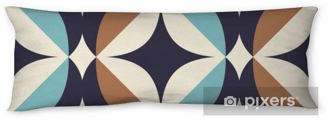 Poduszka relaksacyjna Bez szwu retro wzór w skandynawskim stylu z elementami geometrycznymi - Zasoby graficzne