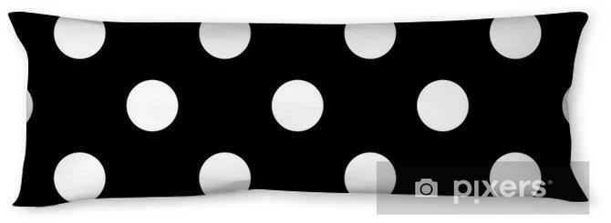 Poduszka relaksacyjna Bezszwowe kropki czarno-białe - Zasoby graficzne