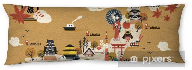 Poduszka relaksacyjna Japońska mapa podróży - Podróże