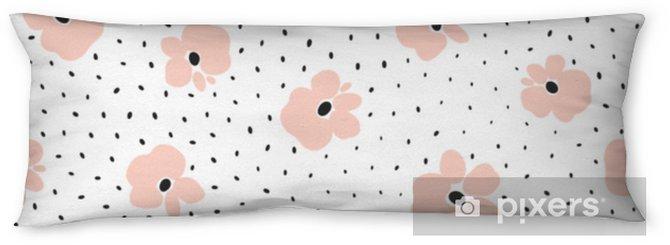Poduszka relaksacyjna Kwiatowy wzór. ilustracji wektorowych - Zasoby graficzne