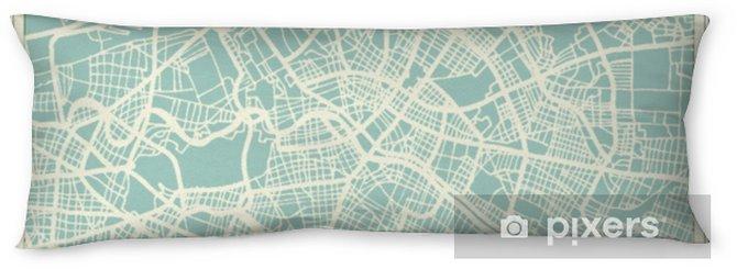 Poduszka relaksacyjna Mapa miasta berlin niemcy w stylu retro. mapa konspektu. - Podróże