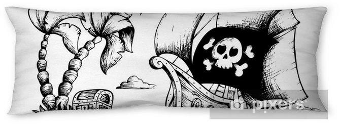Poduszka relaksacyjna Rysunek statek piracki 1 - Naklejki na ścianę