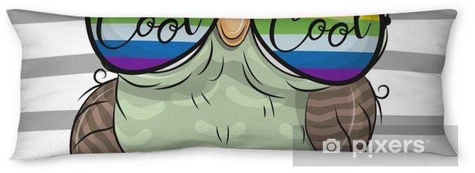 Poduszka relaksacyjna Słodka sowa z okulary przeciwsłoneczne - Zwierzęta