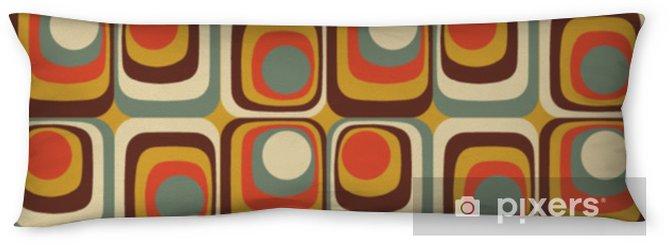 Poduszka relaksacyjna Wektor kolorowy streszczenie retro wzór geometryczny - Zasoby graficzne