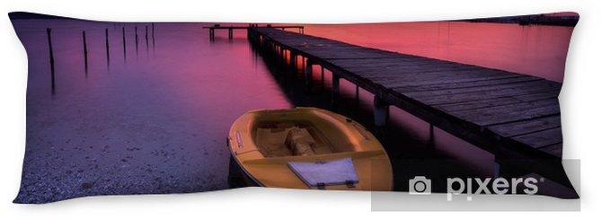 Poduszka relaksacyjna Zachód słońca blask / długi czas ekspozycji widok z jeziora i łodzi o zachodzie słońca - Krajobrazy