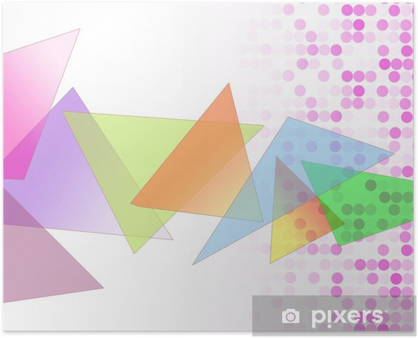 Poster 三角 図 形 模 様 - Vorlagen