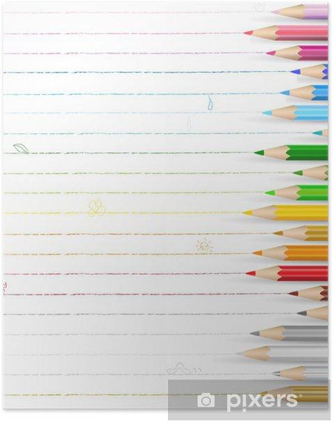 Poster 色 鉛筆 落 書 き メ ッ セ ー ジ - Sales