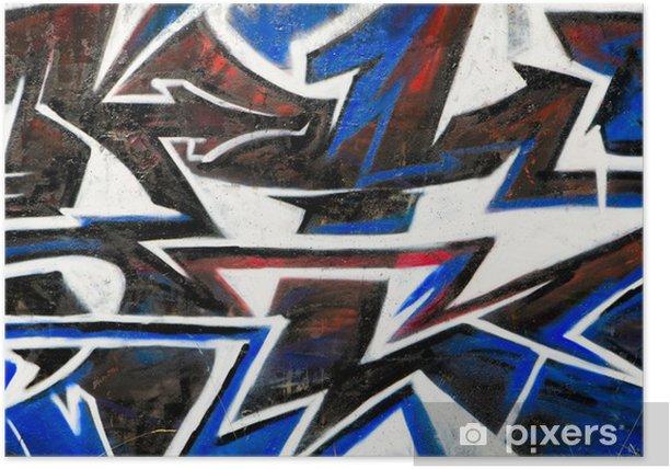 Poster Abstrakt Graffiti Hintergrund - Sonstige