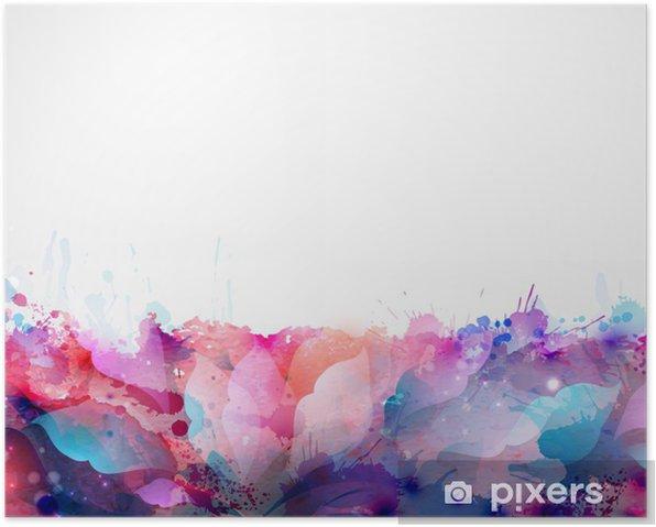 Poster Abstrakten Hintergrund bilden von Blots und Design-Elemente - Bereich