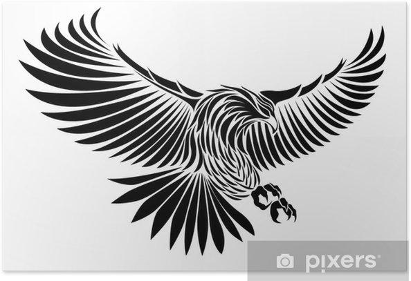 Poster Adler - Wandtattoo