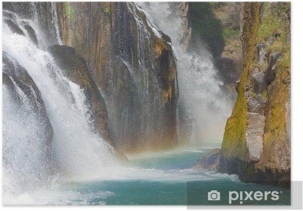 Poster Alara Ucansu Şelalesi, Wasserfall, der Türkei - Naturwunder