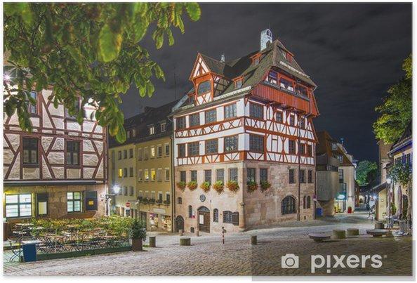 Poster Albrecht-Dürer-Haus in Nürnberg, Deutschland