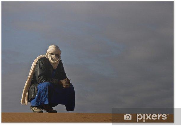 Poster Algerien, Wandern in den roten Tadrart - Urlaub