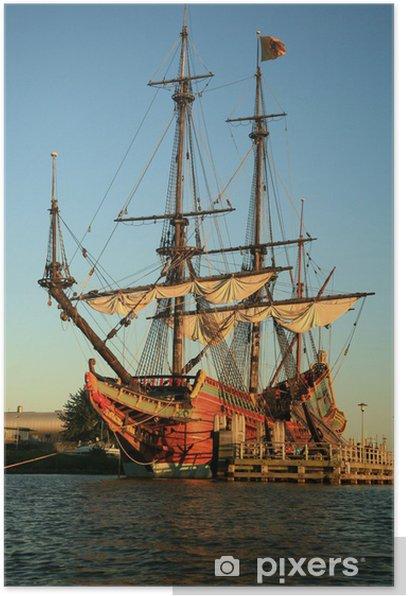 Poster Alte Lieferung - Batavia - Boote