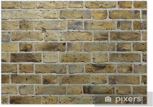 Poster Alte Mauer Textur Hintergrund - Texturen