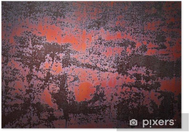Poster Alte rostige Metall Hintergrund Textur. - Texturen