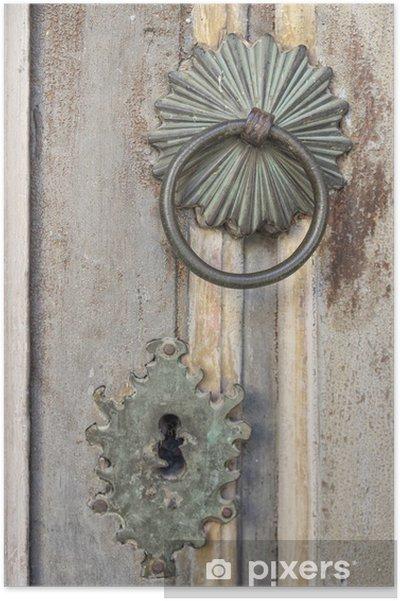 Poster Alte Tür Dekoration Pixers Wir Leben Um Zu Verändern