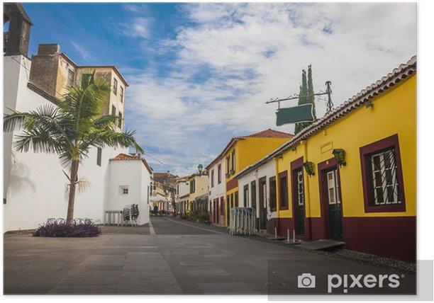 Poster Alten historischen Stadtzentrum von Funchal, Madeira, Portugal. - Stadt