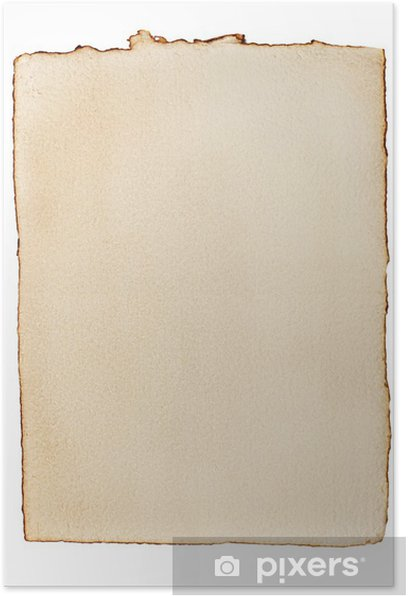 Poster Altes vergilbtes Papier - Texturen
