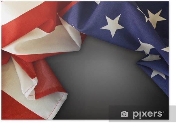 Poster American flag - Zeichen und Symbole