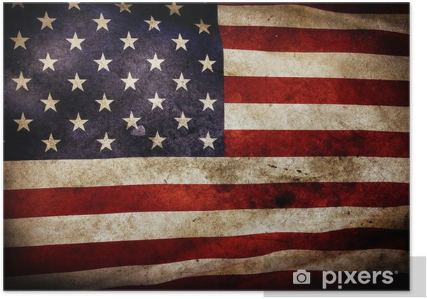 Poster American flag - Themen
