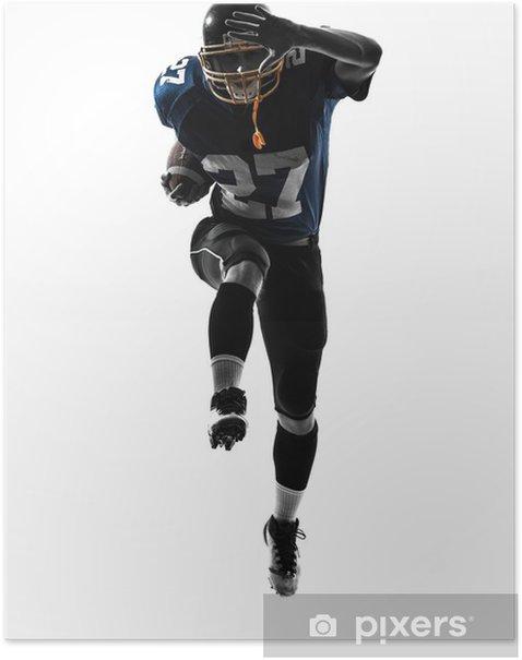 Poster American Football-Spieler Silhouette Mann läuft - Wandtattoo
