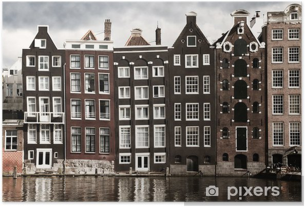 Poster Amsterdam-Kanal Häuser - Themen