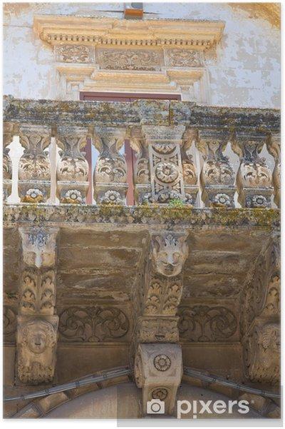 3b92751a4bbb93 Poster Andrichi-Moschettini Palast. Martano. Apulien. Italien. • Pixers® -  Wir leben
