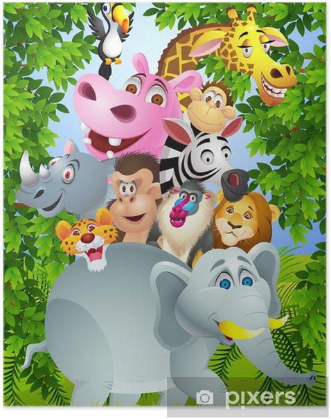 Poster Animal cartoon - Für Schüler