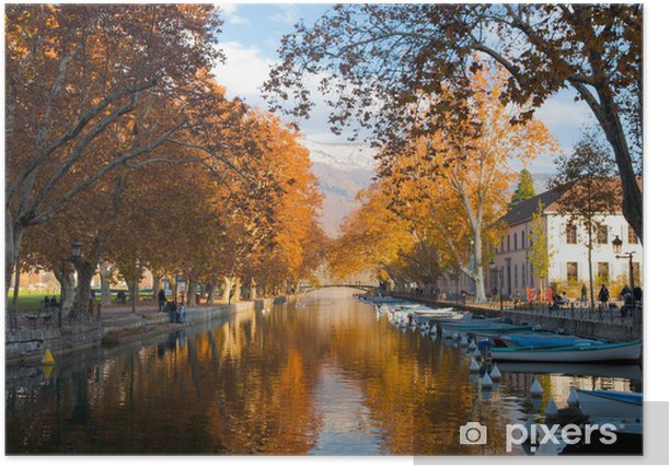 Poster Annecy-Kanal-Fall-Farben - Europa