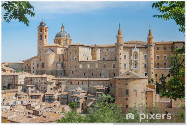 Poster Antico Castello Del Duca Di Urbino Italia Urbino
